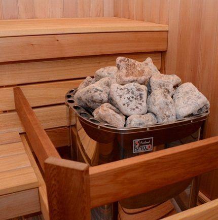 Размещение камней в печи