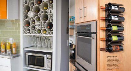 Хранение бутылок на кухне