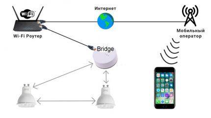 Схема с использованием сетевого моста
