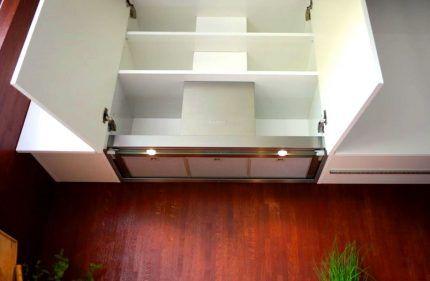 Кухонный шкаф для вытяжки