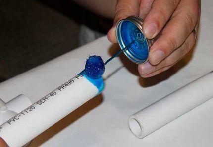 Клей для пластиковых труб