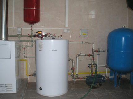 Подключение газового бойлера