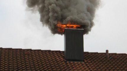 Возгорание дымохода