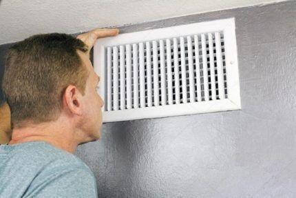 Продух в системе вентиляции