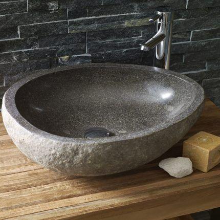 Мини-раковина из натурального камня