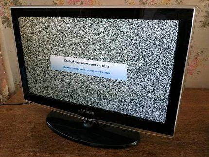 Помехи на экране телевизора