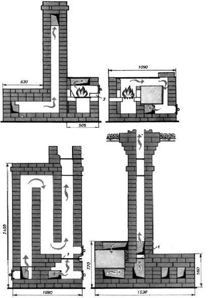 Схема в вертикальном разрезе