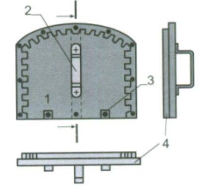 Схема конструкции заслонки