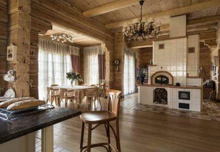 Русская печь в деревянном доме