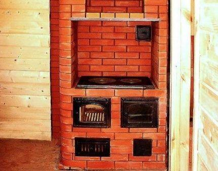 Печь-шведка с плитой