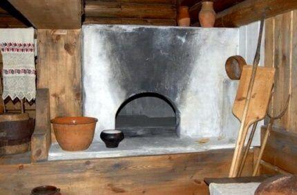 Русская печь по-черному
