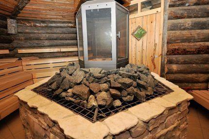 Каменка в русской бане
