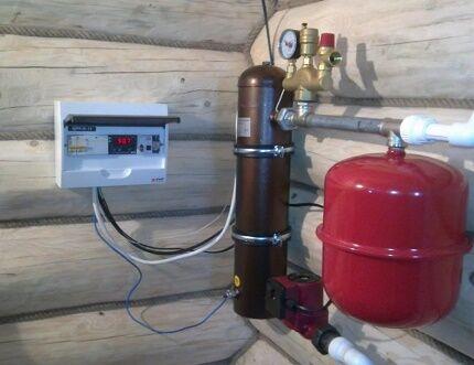 Схема отопления с индукционным котлом