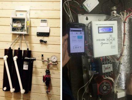 GSM модули для управления индукционным котлом