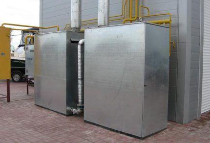 Газовые котлы наружного размещения