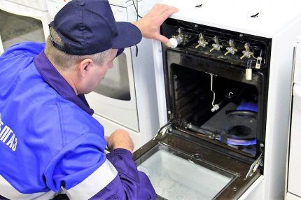 Тестирование газовой духовки