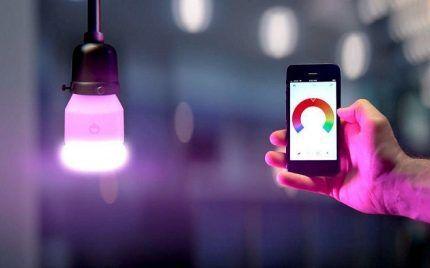 Управление освещением с помощью смартфона