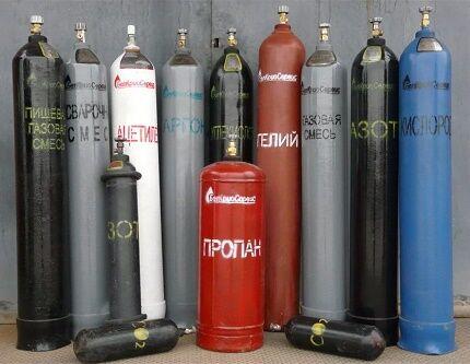Окраска газовых баллонов