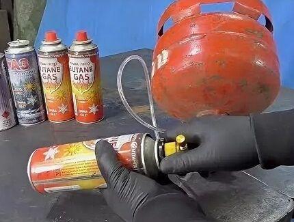 Стравливание конденсата из газового баллончика