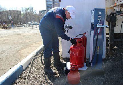 Заправка газового баллона