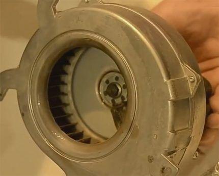 Чистый вентилятор газового котла