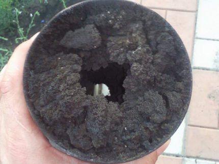 Забитая труба дымоотвода