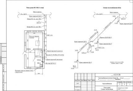 Проект газификации здания