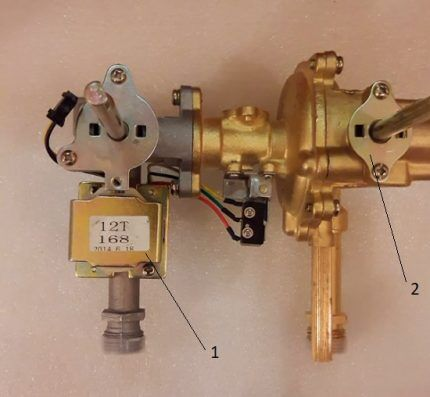 Электромагнитный клапан газовой колонки