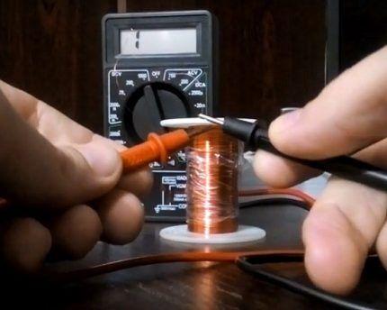 Проверка катушки клапана тестером