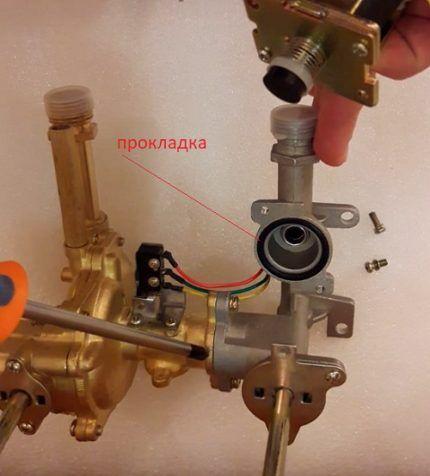 Прокладка юбки газового клапана