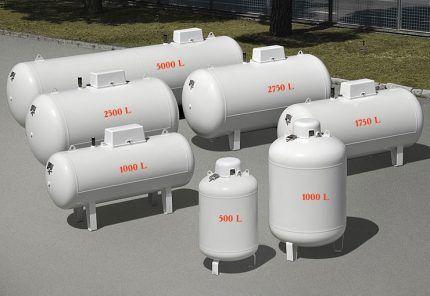 Газгольдеры для автономного газоснабжения