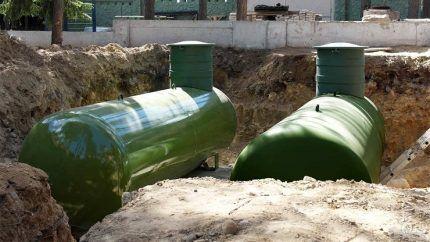 Установка газгольдеров для автономного газоснабжения