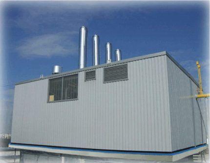 Котельная для газового оборудования на крыше многоэтажного дома
