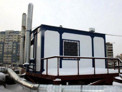 Газовая котельная на крыше многоэтажного дома