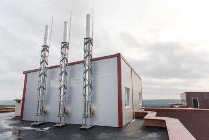 Системы считывания погодных условий на дымоходах