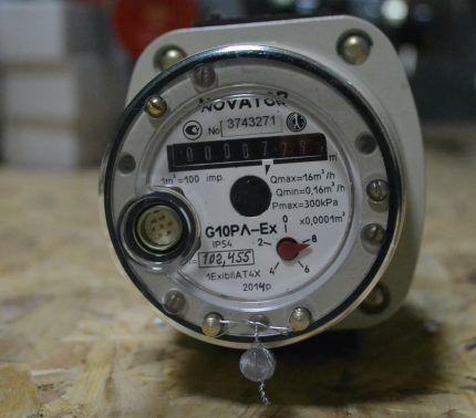 Роторный газовый счетчик