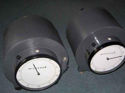 Расходомер барабанного типа