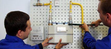 Демонтаж газового счетчика