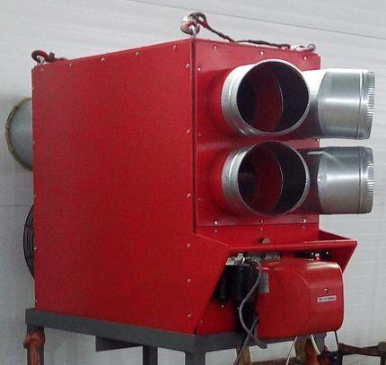 Газовый теплогенератор напольный