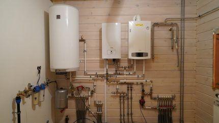 Газовый и электрокотел в связке