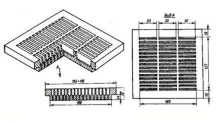 Схема пластины с внезапным расширением