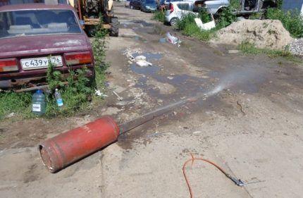 Сливание воды из ресивера