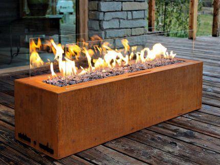 Газовый камин с открытым пламенем