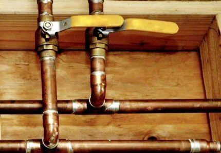 Газопровод из медных труб