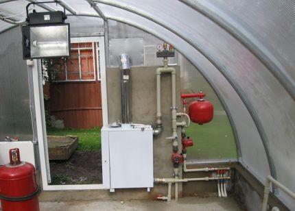 Вариант обвязки напольного газового котла