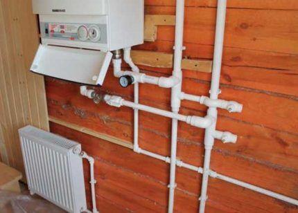 Подключение настенного газового котла к коммуникациям