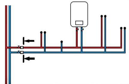 Схема установки обратных клапанов на воду
