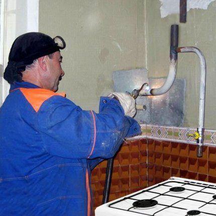 Работник газовой службы