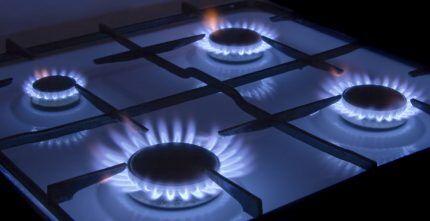 Использование газовой плиты