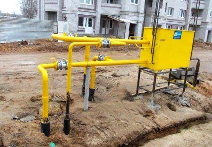 Газовая установка для снабжения МКД